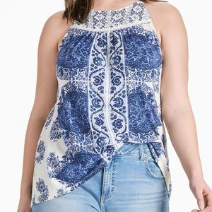 Lucky Brand. Paisley Embroidered Tank NEW